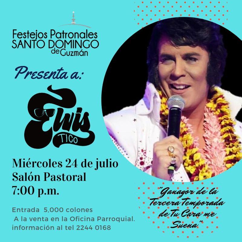 Afiche Show con Elvis Tico